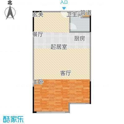 人瑞潇湘国际89.68㎡k商务型户型