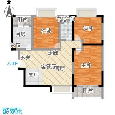恒大绿洲125.77㎡在售37-40、45号楼2-18层C2明厨明卫主卧独立卫生间户型