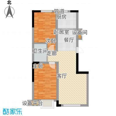 鲁辉国际城88.00㎡C2户型