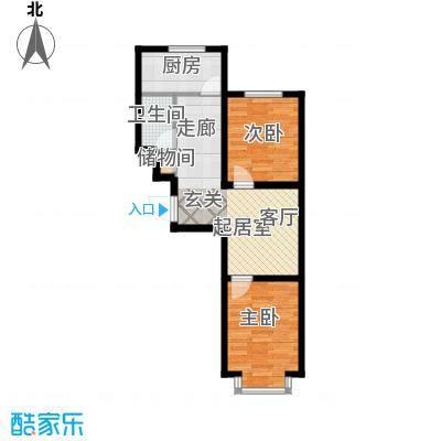 江山别院65.59㎡H户型