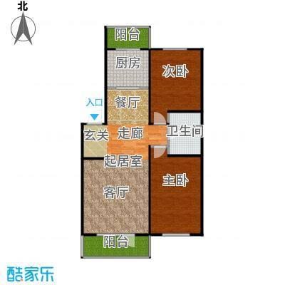 江南印象65.00㎡住宅-90~户型
