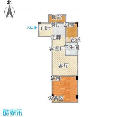 金田风华苑51.90㎡C户型