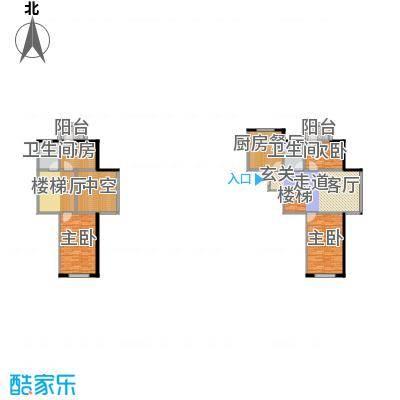 龙腾金荷苑76.12㎡最新户型