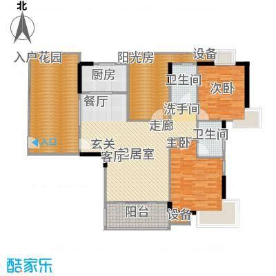 广电江湾新城86.00㎡D+入户花园+阳光房户型