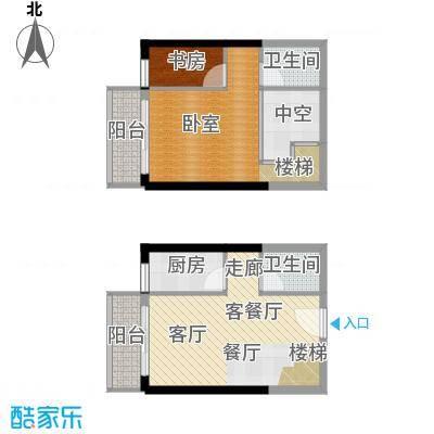 御景龙庭55.04㎡房型复式户型
