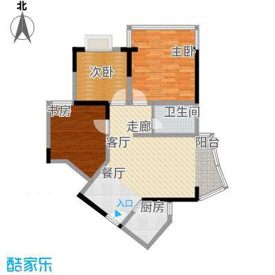 百康年世纪门72.12㎡房型户型