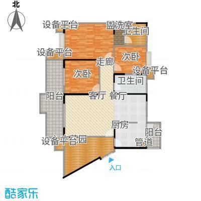 骏逸江南84.84㎡房型户型