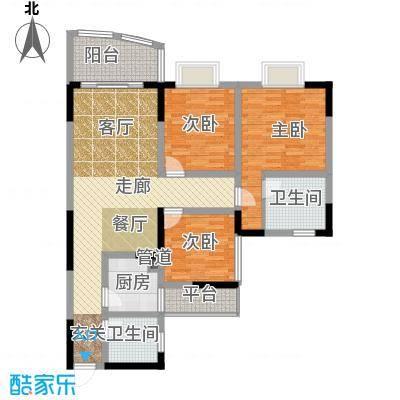 港航家园户型3室1厅2卫1厨