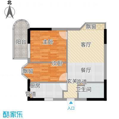 桂花景苑56.90㎡房型户型