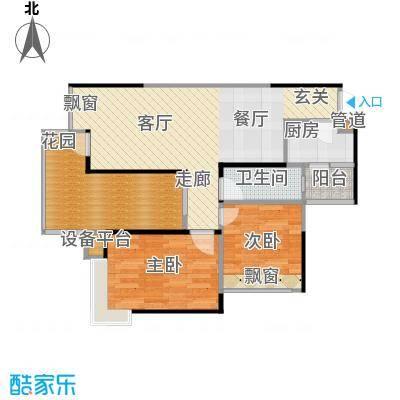 巨成龙湾户型2室1厅1卫1厨