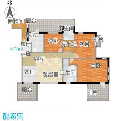 万科蓝山花园151.00㎡情景house三层户型