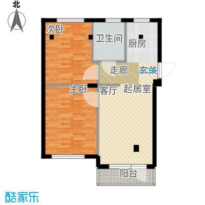 华兴尚园户型2室1卫