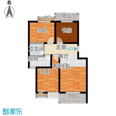 �灞新城户型3室1厅1卫1厨