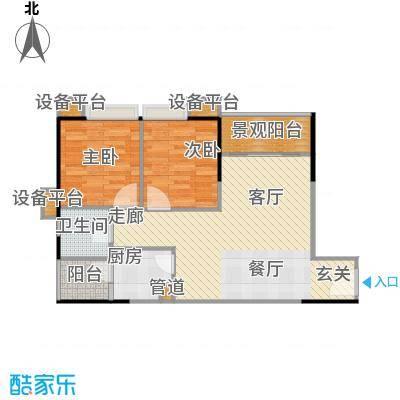 丹枫雅苑70.00㎡房型户型