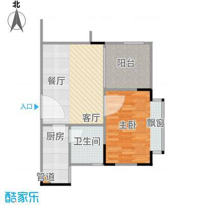 潜龙・华城20.00㎡房型户型