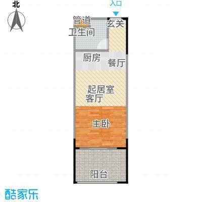 人瑞潇湘国际55.47㎡b1户型