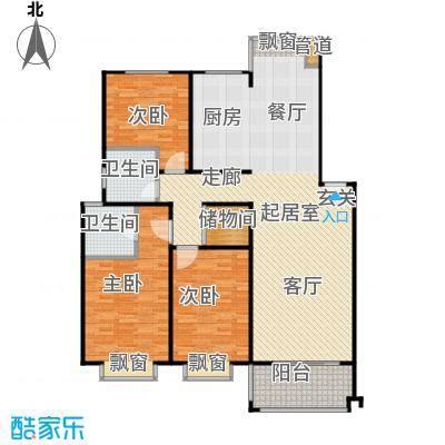 山水名园三期户型3室2卫