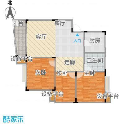西城时代家园104.00㎡房型户型