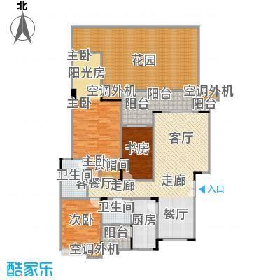 福江・名城名城104.94㎡一期2号楼1单元1层1号房3室户型