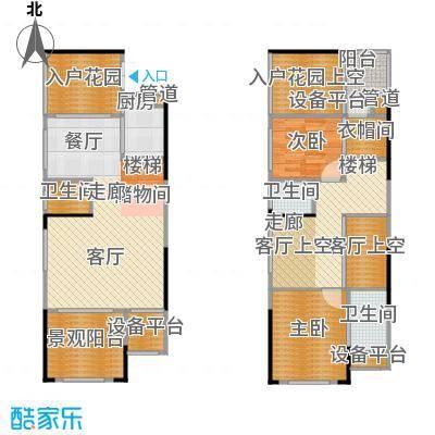 复地・上城国际公寓上城国际公寓96.00㎡图为复地新城就天镜D1可变带院馆及入户花园户型