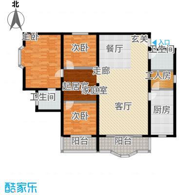 平安鑫泰大厦160.00㎡房型错层户型