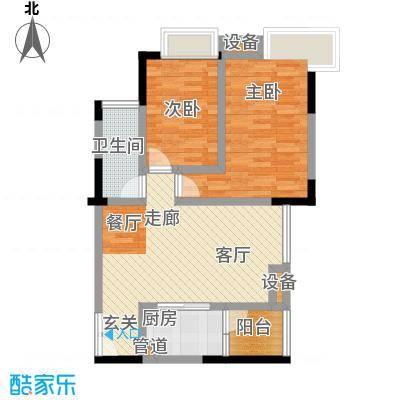 富力现代广场71.52㎡12号楼2、3号房户型