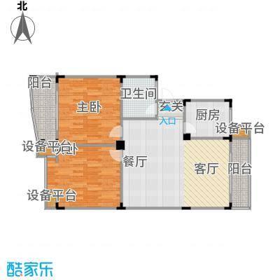 西城时代家园92.00㎡房型户型