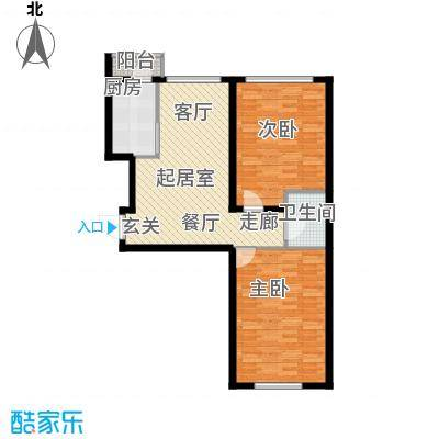 新华佰代宜居85.00㎡B3户型