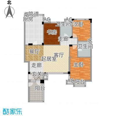 万科魅力之城144.20㎡洋房二层户型