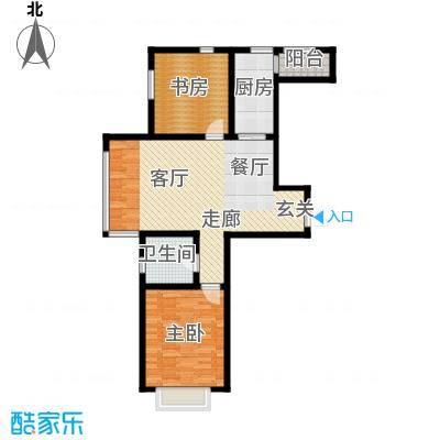 幻景家园89.92㎡1号楼A2-1户型