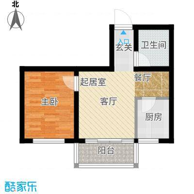江山别院53.90㎡I户型