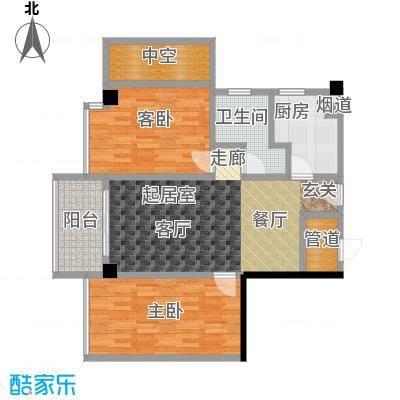 颐和雅轩82.03㎡南塔23-25层03单元户型