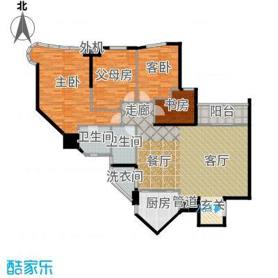 华标涛景湾157.24㎡B栋03单元4房2厅户型