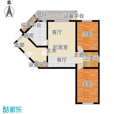 府兴苑104.00㎡房型户型