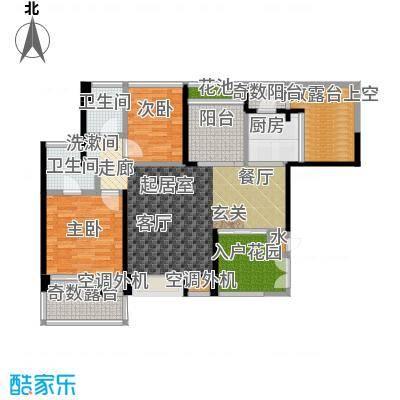 雷圳碧榕湾海景花园87.00㎡3栋1单元A1户型