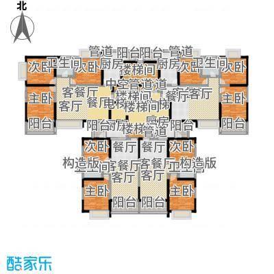 恒大绿洲81.76㎡在售18层小高层的34号楼标准层4套户型