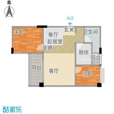 广州白天鹅花园65.12㎡户型