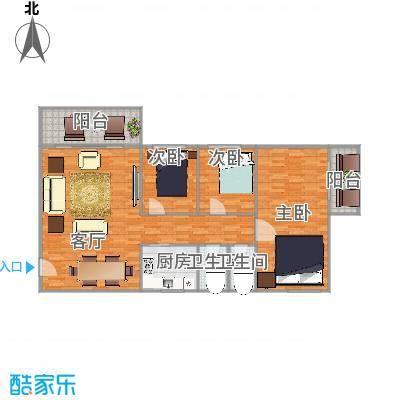 名汇苑144平方02户型3房两厅