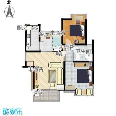 两室两厅88平米