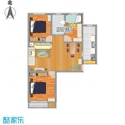 翰林观天下104.4m2小三室