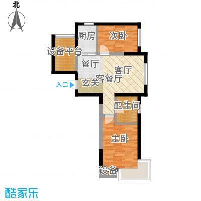 格林阳光城G5户型2室1厅1卫1厨