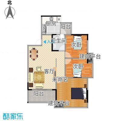 金辉悦府C2户型2室1厅1卫1厨