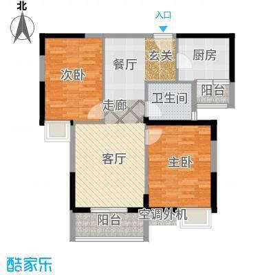 金地雄楚一号12户型2室1厅1卫1厨