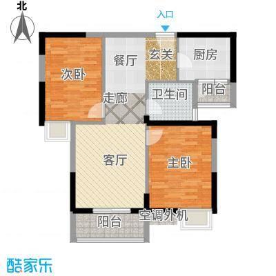 金地雄楚一号14户型2室1厅1卫1厨