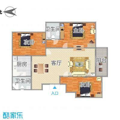 141平米三室二厅二卫