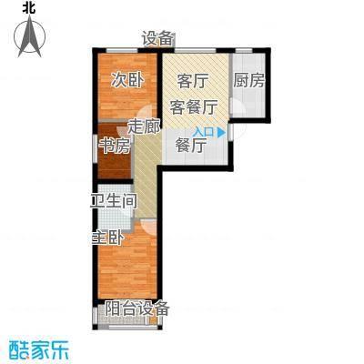金隅汇星苑B6户型3室1厅1卫1厨