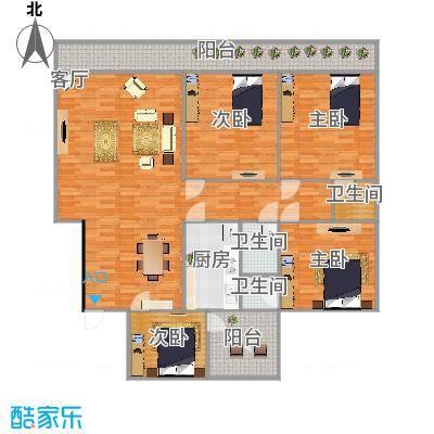 华逸花园174方四室两厅