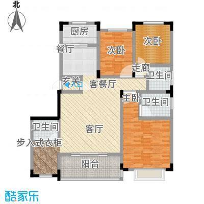 山水花都户型3室1厅3卫1厨