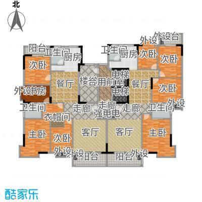鸿景雅苑户型8室2厅4卫