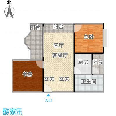 信步闲庭104.30㎡户型